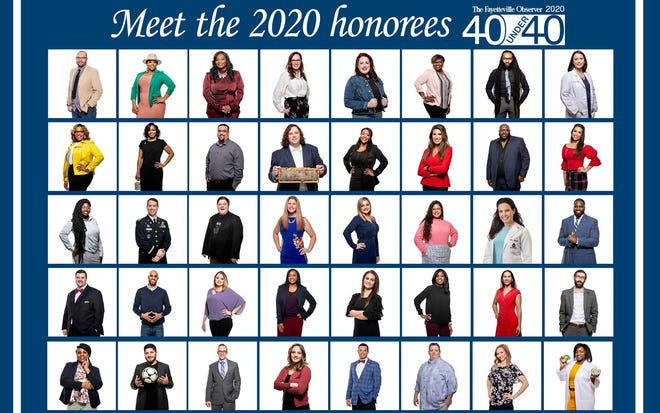 The Fayetteville Observer's 40 Under 40 awards celebrated 10 years in 2020.