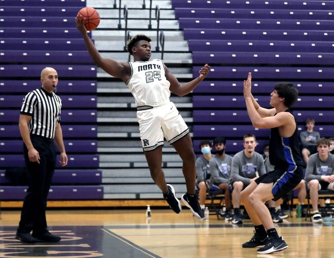 Elijah Hawk has been a key contributor for North this season, averaging 5.3 points and 7.0 rebounds through 15 games. The 6-foot-4, 240-pound Hawk has committed to play football at Western Michigan.