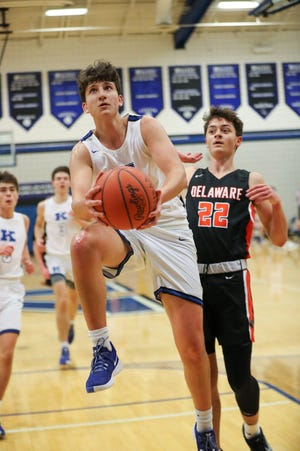 Mitchell Abahazie is part of a seven-player rotation that helped Kilbourne to records of 16-4 overall and 12-2 in the OCC-Capital entering the week. The Wolves, who won their first OCC title, are seeded eighth for the Division I district tournament and open the postseason Feb. 26.