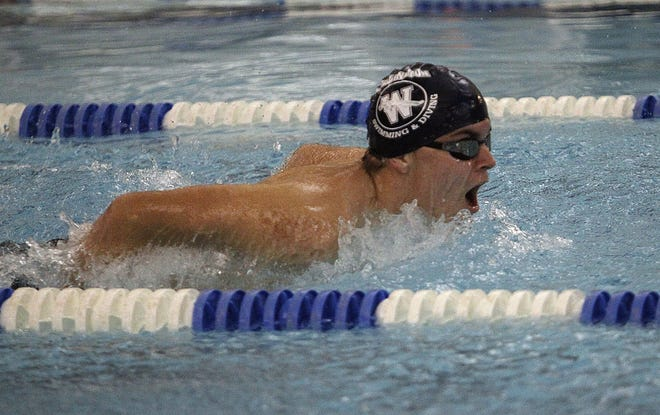 Wellington's Jake Johnson was among the Division II district qualifiers for the boys swimming and diving team, advancing as part of the 200 medley and 400 freestyle relays.