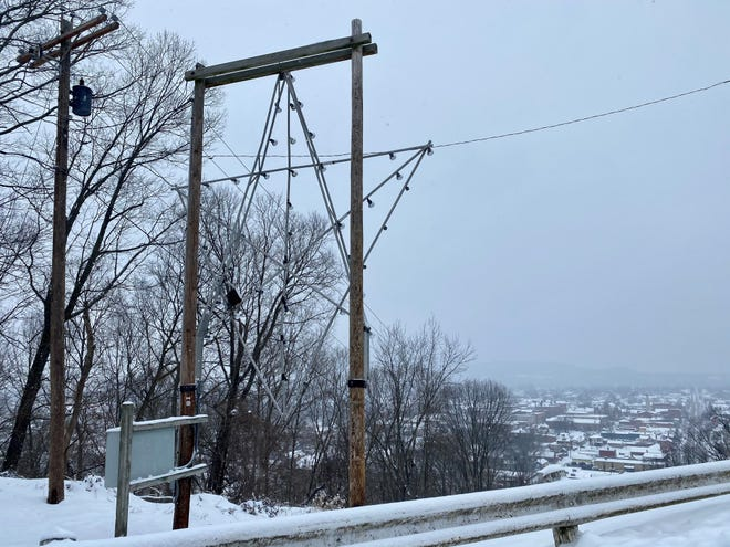 Snow covers Chillicothe on Monday, Feb. 15, 2021. The National Weather Service is forecasting more snow for the area this week.