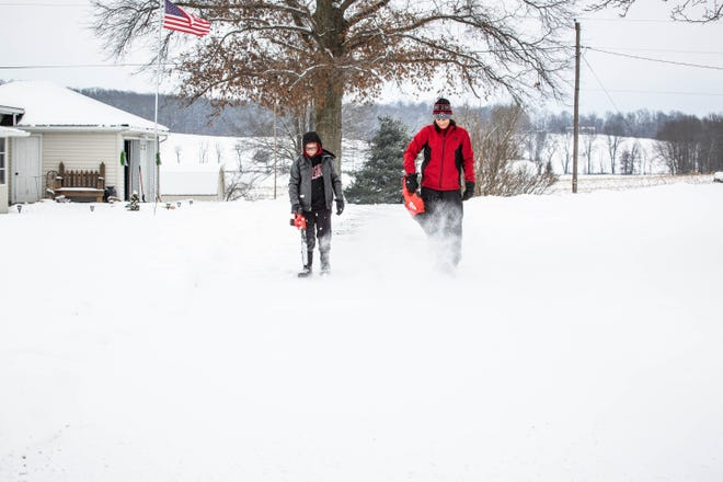 Coshocton and this region of Ohio has seen more than double the amount of snow this year compared to last with around 10 inches recorded for the month of February.