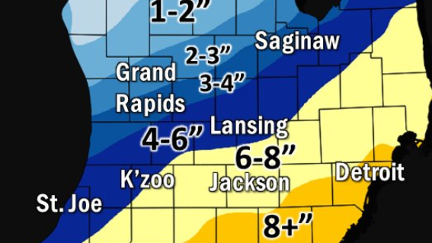 Winter storm expected to pummel Michigan with up to 10 inches of snow: Here's what we know