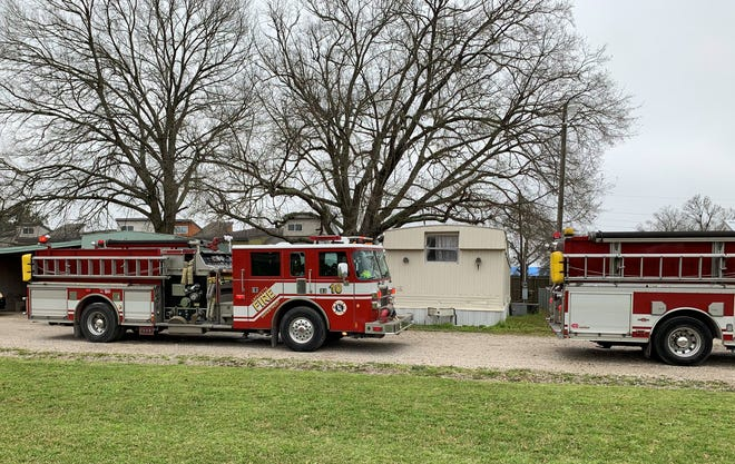 Lafayette Fire Department trucks are shown in this file photo.