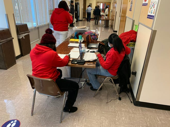SCS elementary teachers were offered COVID-19 vaccines on Monday, February 15, 2021