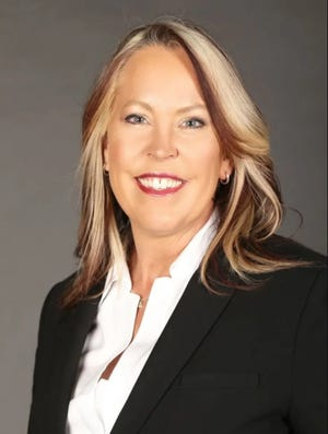 Republican Kimberly Skaggs is seen in a portrait for her 2020 campaign for the New Mexico state Senate.