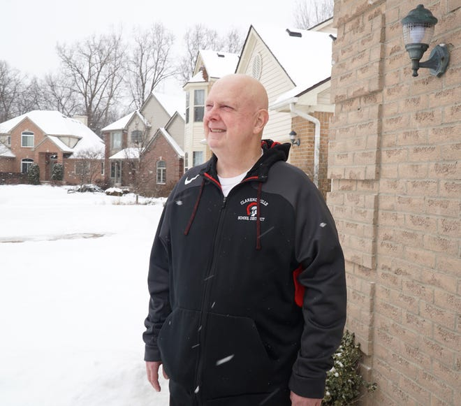 Paul Shepich Superintendent of the Clarenceville Public Schools District outside his Livonia home on Feb. 15, 2021.
