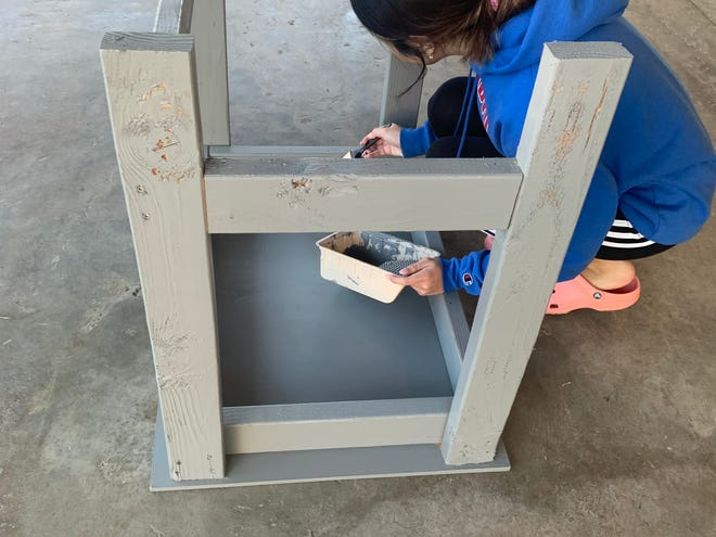 """National Honor Society (NHS) at Indio High School began an initiative to provide desks to students in need through a project called """"Desks for Distance Learning."""""""