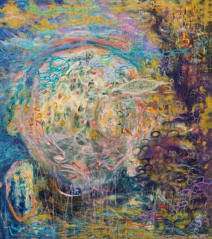"""""""Collective Consciousness: New Work by SUNY New Paltz Art Faculty"""" is on display at the Samuel Dorsky Museum of Art, including """"Divers"""" by Robin Ardold"""