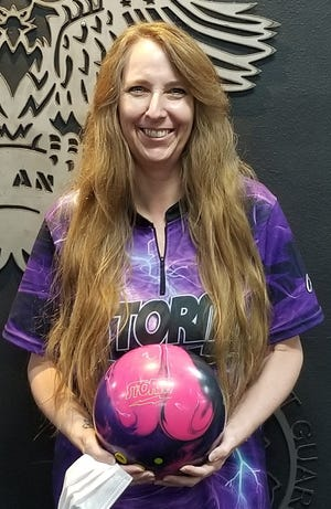 Tina Cruz threw 21 strikes during games of 235, 199 and 186 for a 620 series at Sunset Lanes in St. George last week.