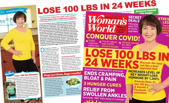 "The cover of the annual Woman's World's weight loss issue, ""Keto Your Way,"" features the weight loss story of Tulare County woman Amanda Rose"