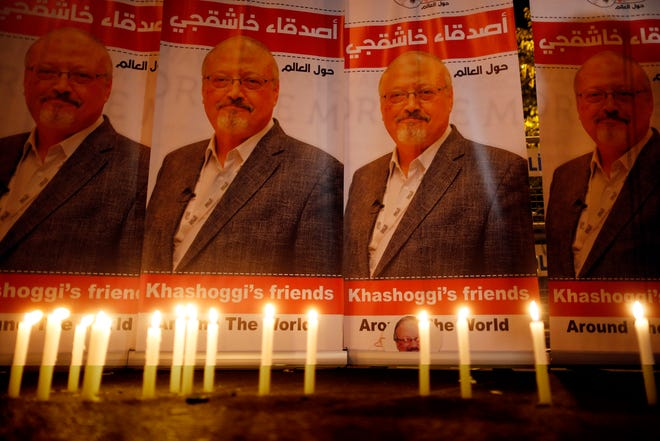 Vigil for Jamal Khashoggi on Oct. 25, 2018, in Istanbul.