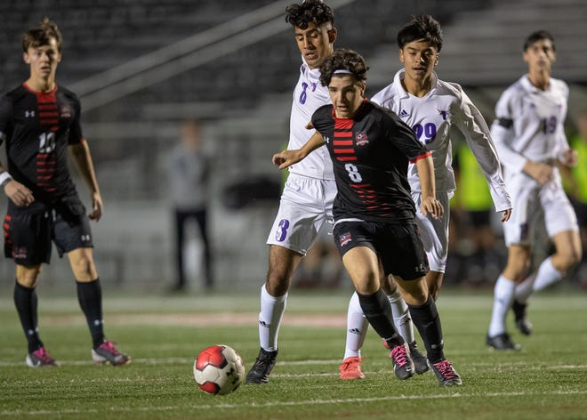 Lake Travis Cavaliers Ben Platt scored for the Cavs in a 1-1 draw with Bowie last week. Like Westlake and Bowie, the Cavs have yet to drop a game in District 26-6A.