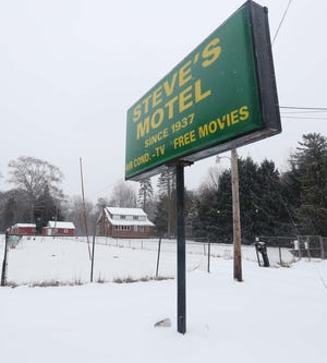 The Steve's Motel sign is pictured Tuesday on East Turkeyfoot Lake Road in Green.