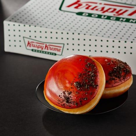 Krispy Kreme will sell a limited-edition Mars doughnut on Thursday, Feb. 18.
