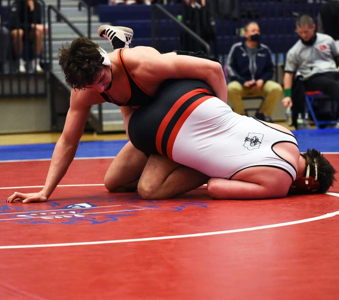 Ames' Gabe Greenlee is going for his first state championship at the state wrestling tournament held this Thursday through Saturday at Wells Fargo Arena in Des Moines. Greenlee is 31-0 and ranked first at 285 pounds in 3A. He placed second at 285 a year ago.