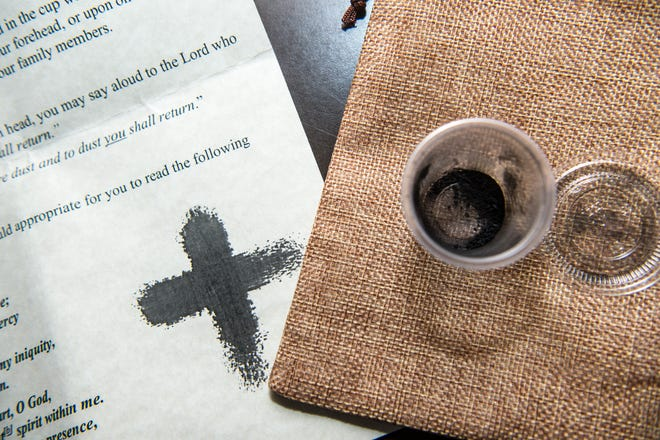 Aldersgate United Methodist Church is giving out Ash Wednesday kits in a fabric pouch that contain a small container of ashes and an instruction sheet. The church will have a service available online as well as an in-person service Wednesday.