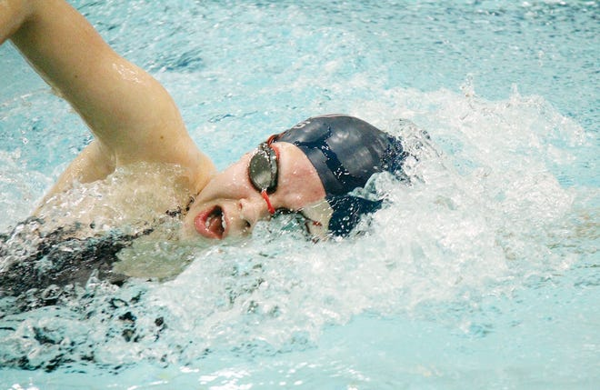 Bartlesville HIgh's Jordyn Kahler is the lone senior on this year's girls swimming state contingent.