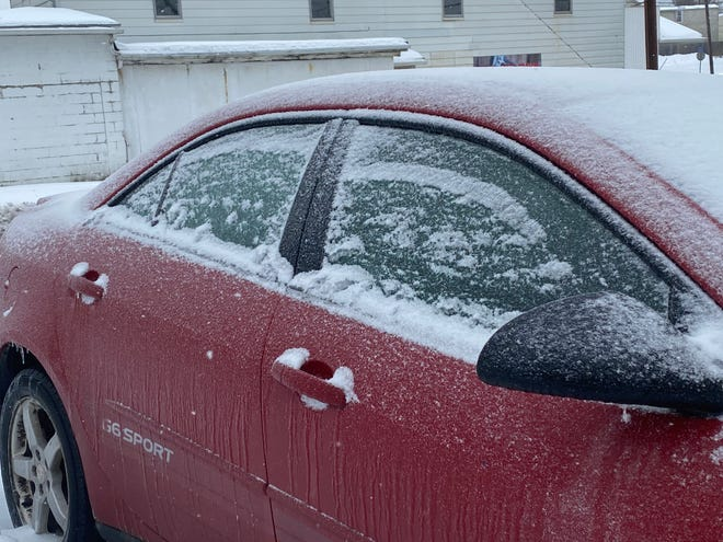 Morning commuters in Guernsey and surrounding counties found their vehicles covered by a thick layer of ice after winter storm Uri blew through the region Monday. Many local roadways were also covered by ice making for a slow and slippery commute.