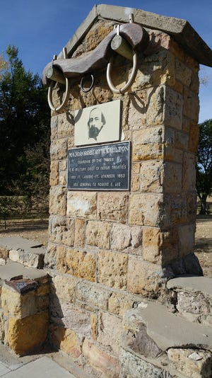 For week 7 of the 200th anniversary of the Santa Fe Trail, the Chilton Monument is located in Chilton Park on Manor Drive in Dodge City.