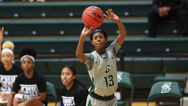 Yazz Wazeerud-Din led four Hatters in double figures with 20 points as Stetson defeated host Kennesaw State, 64-53, on Sunday, Feb. 21, 2021.