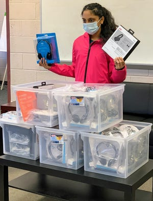 Silvia Kang, an Erie Day School student from Summit Township, raised money to buy headphones to help students from Erie's East Middle School who are learning remotely during the COVID-19 pandemic.