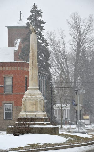 This monument, located in the first block of Main Street West in Girard, honors the area's Civil War dead and is an iconic piece of the borough's history.