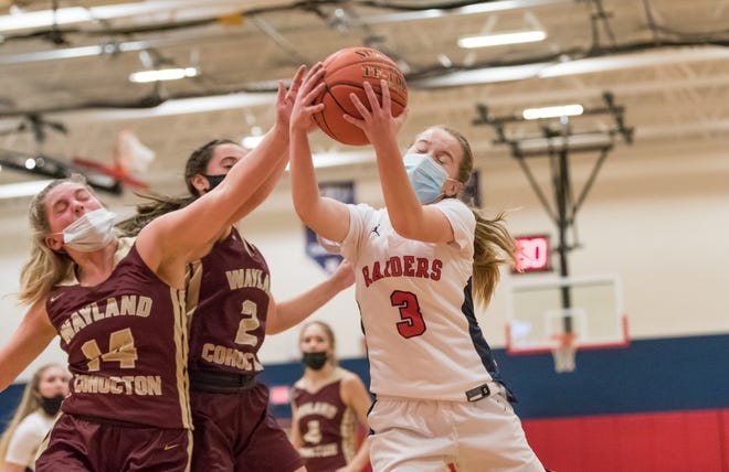 Hornell's Lillian Hoyt drives to the hoop for a bucket during Monday's win over Wayland-Cohocton.