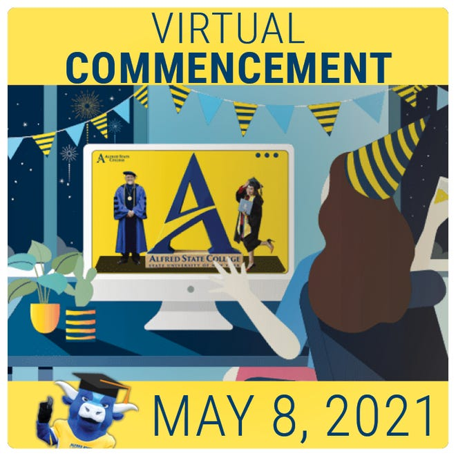 Due to COVID restrictions, Alfred State College will host a virtual commencement ceremony on Saturday, May 8.