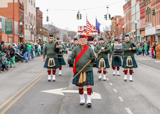 The City of Hornell St. Patrick's Day parade marches down Main Street in 2019, the last time the parade was held. The 2021 event, like 2020, has been canceled due to COVID-19.