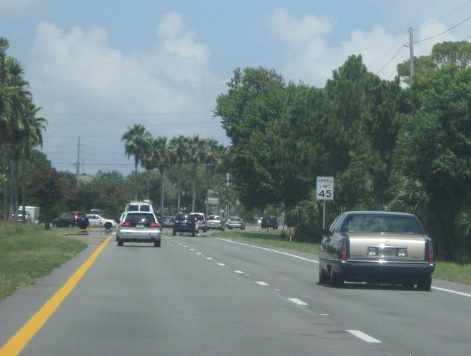 Traffic streams along Florida A1A in Ponte Vedra Beach.