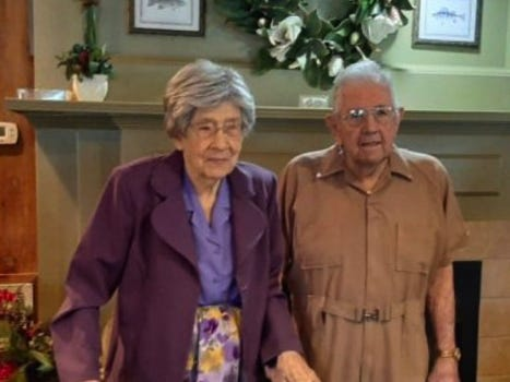 Patsy and Gail Richardson of Gonzales celebrated their 80th anniversary Sept. 1, 2020. Louisiana Family Forum honored them as the state's Longest Married Couple.