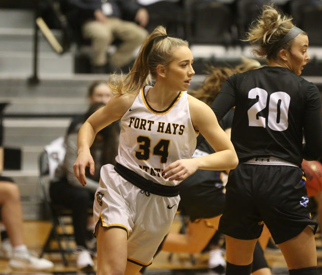 FHSU junior forward Cydney Bergmann suffered a knee injury last week at Northeastern State. She will be out this week and her status for the rest of the season is uncertain.