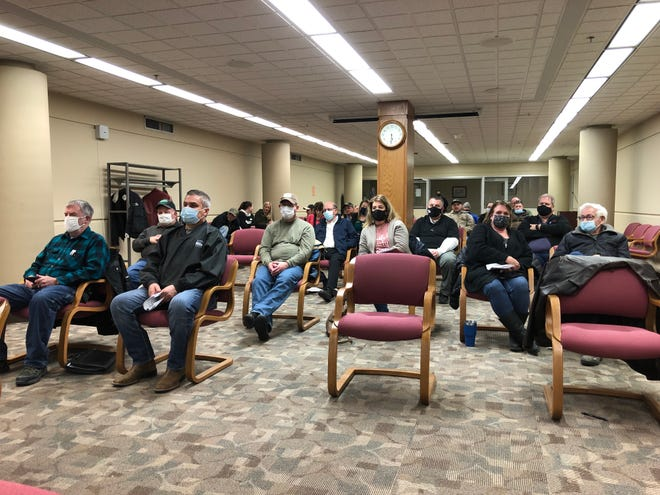 Many opponents of a country wedding barn north of Hays showed up to voice their concerns at the regular meeting Monday evening of the Ellis County Commission in the Ellis County Administrative Center, 718 Main.