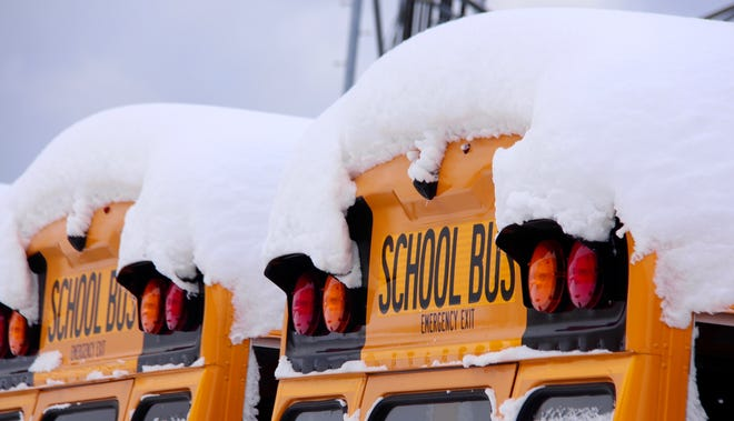 Several Ionia County school districts announced they are closing schools in anticipation of a snowstorm Tuesday, Feb. 16.