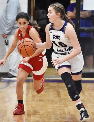 Rosepine's Kelly Norris (10) and the rest of the Lady Eagles will host the Northeast Lady Vikings at 5 p.m. Saturday in the first round of the Class 2A playoffs.