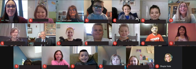 Camdenton R-III School District Distance Learners from Mrs. Leezer's and Mrs. Dandridge's class virtually met the Governor of Missouri, Mike Parson on Feb. 10, 2021