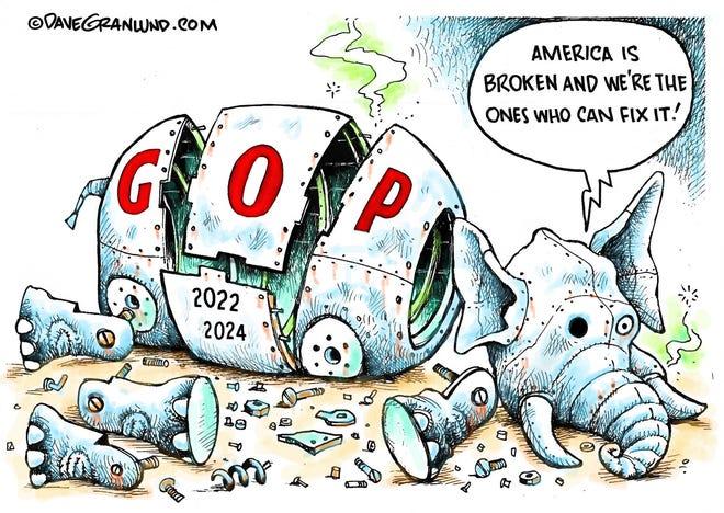 Dave Granlund cartoon on broken America