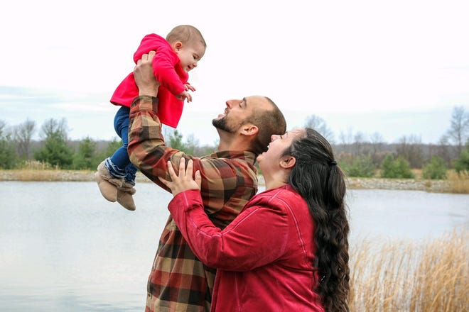 Nicole Hudson and Zachary Barse, with their baby, Aliyah Barse, are grateful for the support they receive from Healthy Families, a program of Child & Family Resources Inc. that serves children and families in Ontario, Seneca and Yates counties.