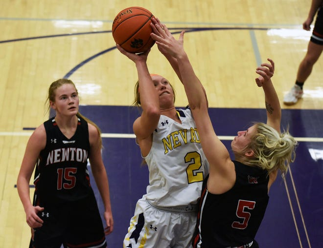 Sydney Mosinski had 19 points and seven rebounds in Nevada's 37-34 loss to Newton in its final game of the regular season Feb. 8 in Nevada.