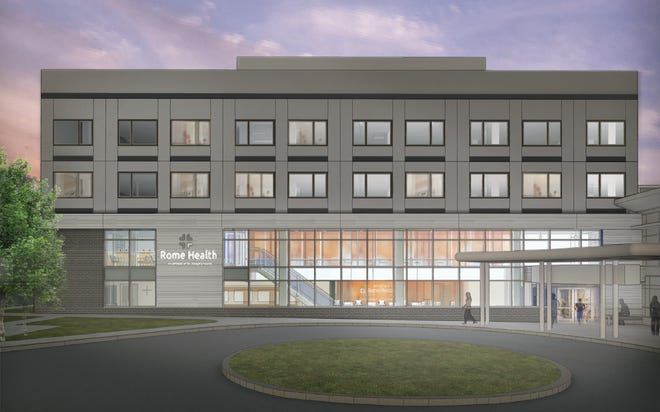 Rendering of the lobby of the planned Physician Center.