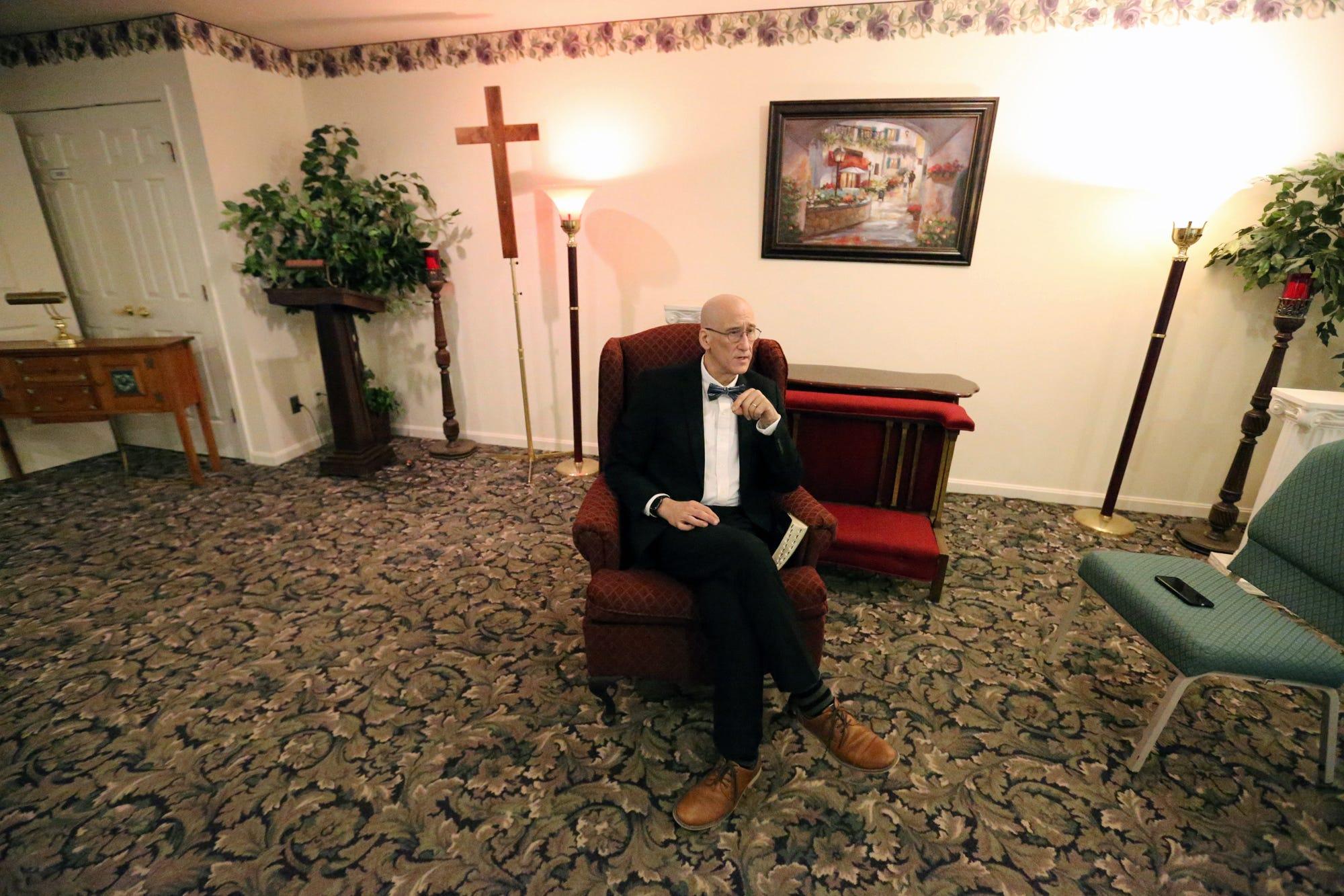 Jeff Pelkey in the lobby.