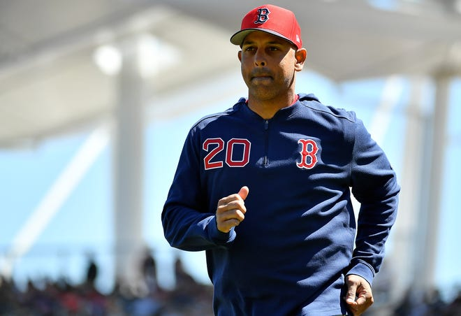Alex Cora, seen during spring training in 2019 at JetBlue Park, returns to manage the Red Sox after a suspension for sign-stealing while the Houston Astros bench coach. Cora knows there are some fans who aren't happy with his re-hiring.