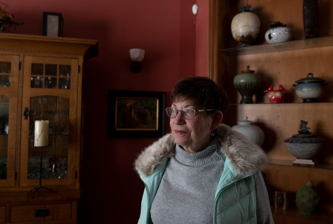 The Cooleys were diagnosed in December (they are clear now), then days later their furnace gave out. Wendy Cooley at home in Randolph.