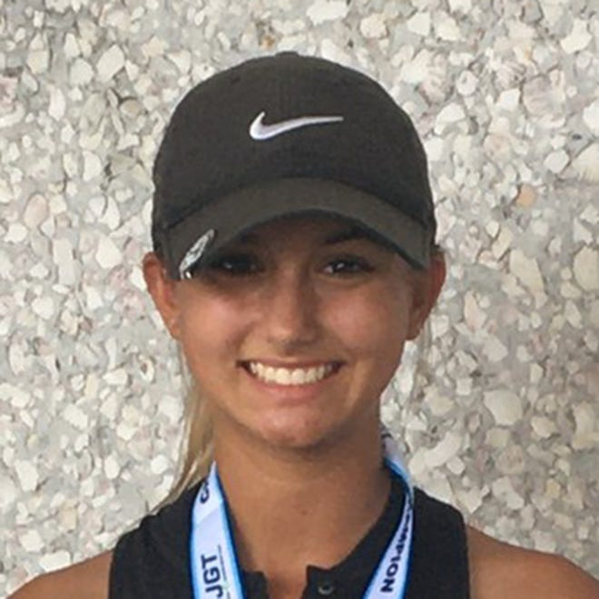 Kenzie Heba, who will attend college at West Florida, received a $10,000 scholarship from the North Florida Junior Golf Foundation.