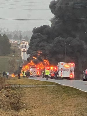 One person was killed in a head-on collision Monday evening.