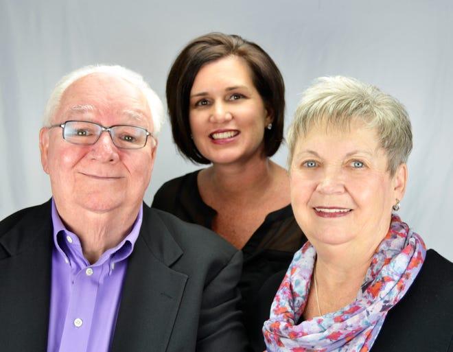 Joe Holleran, left, Lisa Bouck and Virginia Holleran.
