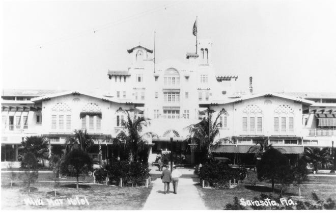 Sarasota's first upper-class hotel, the Mira Mar on S. Palm Avenue