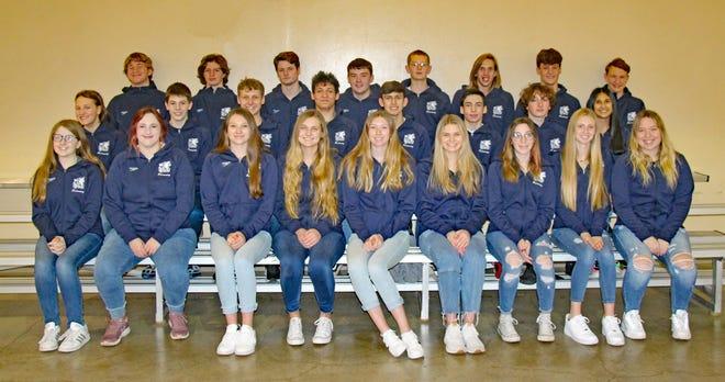 Members of the 2020-21 Shawnee High School swim teams.