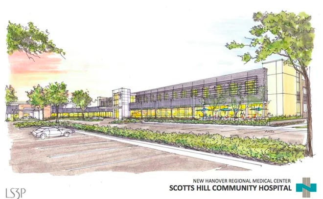 Sketch of proposed Scotts Hill Community Hospital